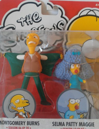 THE SIMPSONS MONTGOMERY BURNS & SELMA PATTY MAGGIE ()
