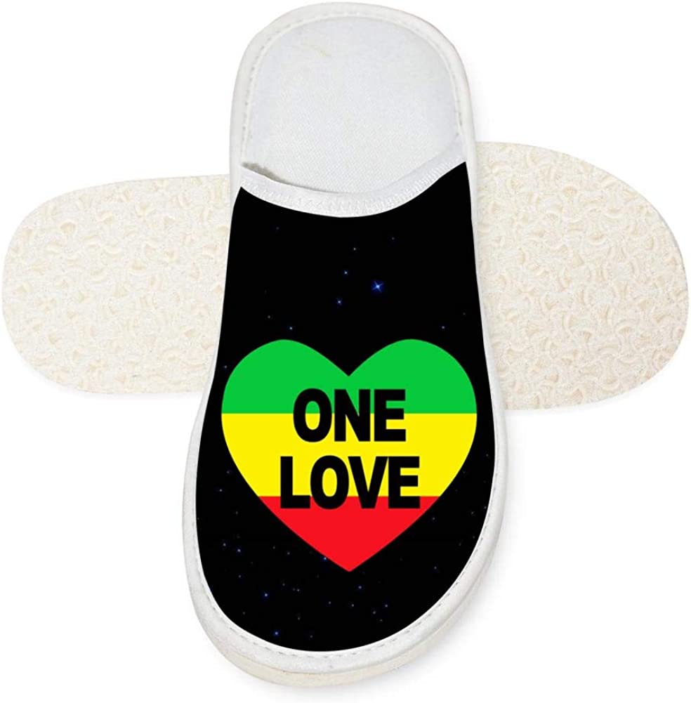 IIPOOK One Love Heart Printed Unisex Slip On House Shoes House Slippers Cotton Slippers For Indoor /& Outdoor Use