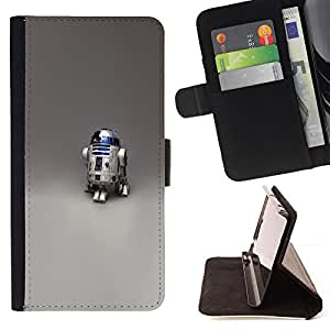 R2 D2 Robot - Painting Art Smile Face Style Design PU Leather Flip Stand Case Cover FOR Samsung Galaxy S3 III I9300 @ The Smurfs
