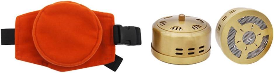 Moxa Stick - Quemador sin humo Moxa purificador depósito de cobre con bolsillo ajustable Moxibustion tratamiento caja de terapia para la cintura cuello rodilla dolor artritis alivio: Amazon.es: Salud y cuidado personal