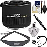 Sigma 2x EX APO DG AF Teleconverter Lens (for Canon EOS) with Sling Strap + Kit