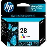 Original HP 28 Tri-Color Ink Cartridge in Retail Packaging