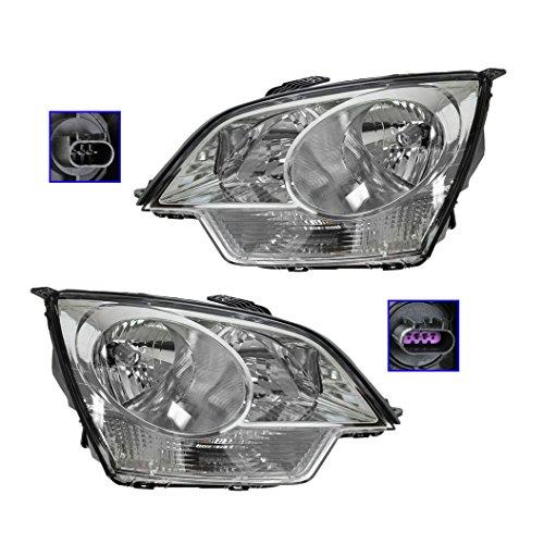 - Headlights Headlamps Left & Right Pair Set for Saturn Vue Chevy Captiva Sport