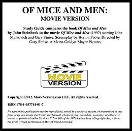 compare the beginning of the novel and sinises film version of mice and men essay Of mice and men is a 1992 american period drama film based on john steinbeck's 1937 novella of the same name directed and produced by gary sinise,.