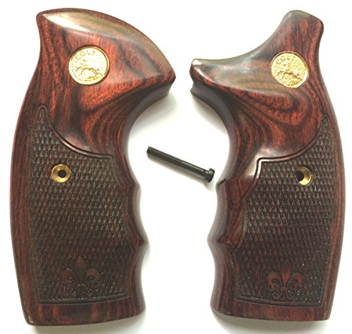 Gun Grip Supply Colt Detective Special Grips/Colt Diamondback Grips Colt D Frame Rosewood Checkered