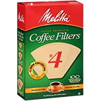 Melitta No. 4 Cone Coffee Filters, Natural Brown, 100 Count