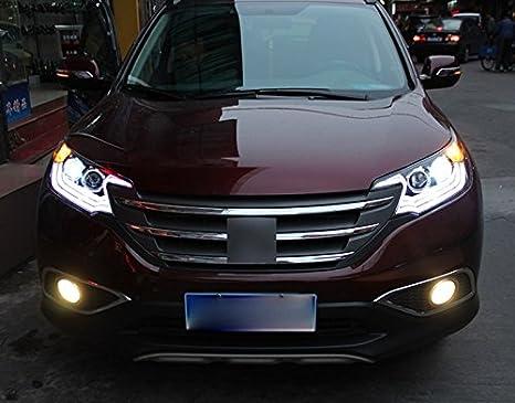 GOWE Honda CRV Faros Delanteros 2015 2016 LED DRL luz Delantera Lente bi-xenón HID Temperatura de Color: 4300 K Potencia: 55 W: Amazon.es: Coche y moto