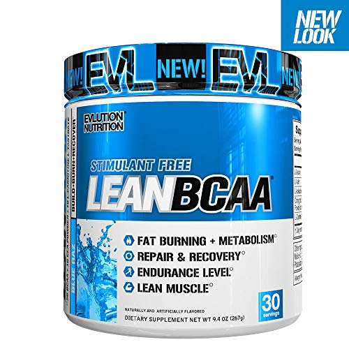 (Evlution Nutrition LeanBCAA, BCAA's, CLA and L-Carnitine, Stimulant-Free, Recover and Burn Fat, Sugar and Gluten Free, 30 Servings (Blue Raz))