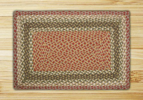 Earth Rugs RC-024 Rectangular Rug, 2 x 8', - Gray Olive Jute Burgundy
