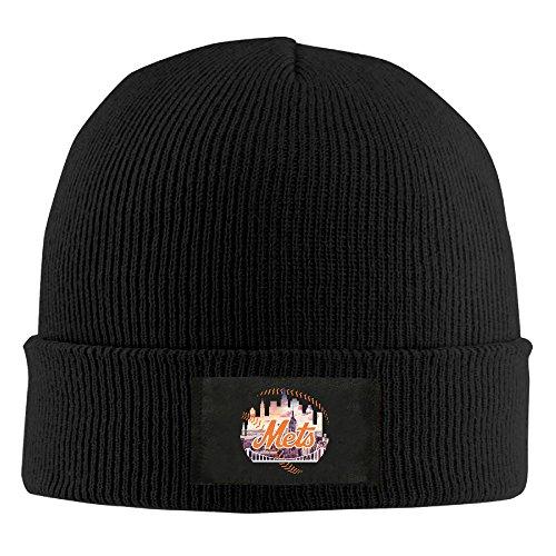 Amone New York Me Winter Knitting Wool Warm Hat Black