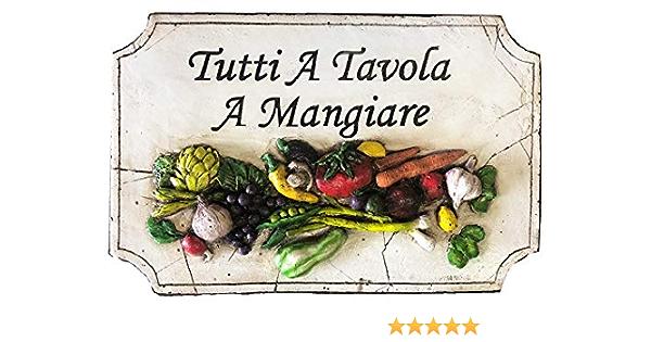 Italian kitchen art Italian Kitchen sign 9 x 29  Tutti a Tavola a Mangiare Italian chef wall decor Italian sign