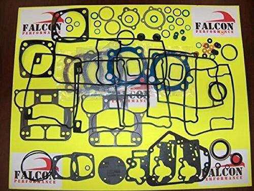 Harley Evo 1340 BIG BORE Upper/Top End Gasket Set w/Teflon+Carbon Head 84-99 ()