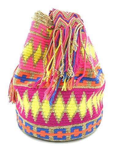 Donne Zaino Con Uomini Per E Uniche Casa Borse Colombiane Stampe Wayuu Blanca qz5xII47w