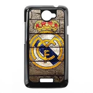 Custom Cell Phone Case HTC One X Black Case Cover Real Madrid Football Club FC Logo 12QQ4694907