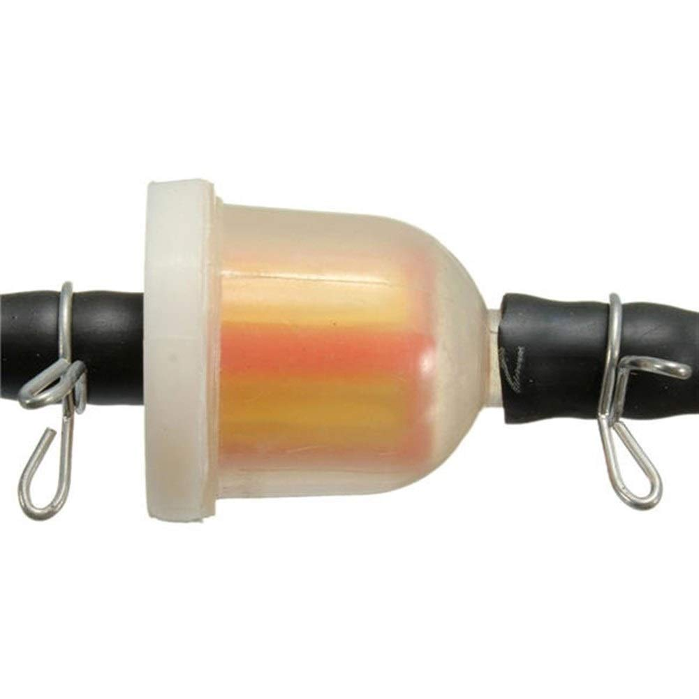 Rouyuan Tubo benzina con filtro in linea benzina 2 pezzi con fermagli adatto for mini moto da corsa a 2 tempi ATV Quad Accessori per moto