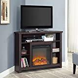 WE Furniture AZ44FPHBCES Fireplace TV Stand, 44