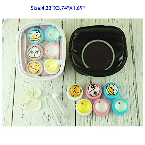 Contact Lens Case with Mirror Contact Lens Case Travel Kit Cute Contact Lense Case Cute Contact Lens Case 3 Pack by Sunflower Innovative Store (Image #7)