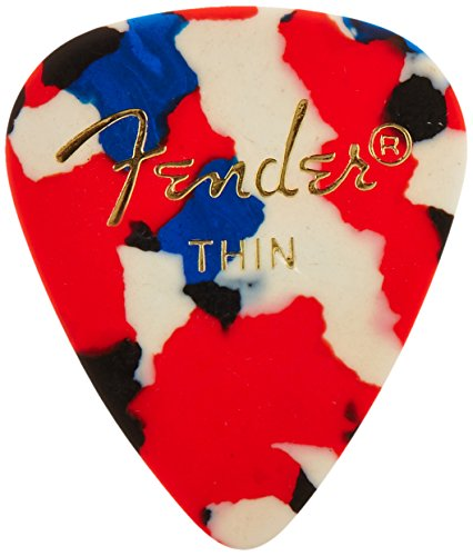 Fender 351 Shape Classic Picks (144 Pack) for electric guitar, acoustic guitar, mandolin, and bass (White Acoustic Guitar Fender)