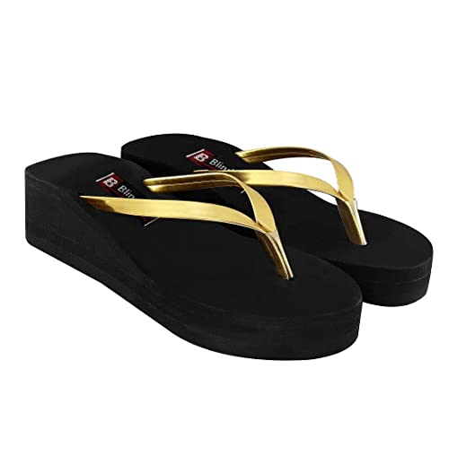 9c53c0c2b80a Blinder Women s Black Gola Slippers Wedges Flat on Amazon  Amazon.in ...