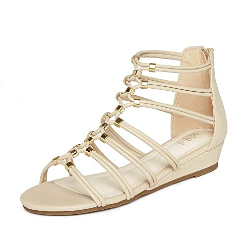 b7ecaed2748d tresmode Womens Raella Beige Gladiator Sandal  Buy Online at Low Prices in  India - Amazon.in