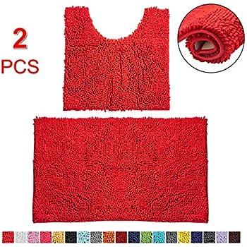 Amazon Com Golden Linens 3 Piece Bath Rug Set Solid Color