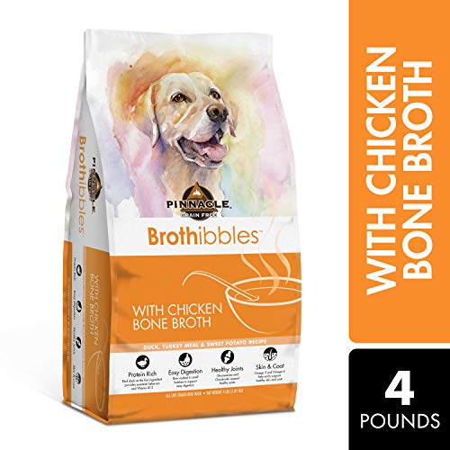 Pinnacle Pet Brothibbles Duck, Turkey Meal and Sweet Potato Recipe with Chicken Bone Broth, All Life Stages Dry Dog Food, 4 lbs