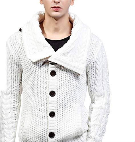 Decro Manches Blanc couleur Taille Pull Oudan Métro Hommes Blanc Couleur Bleu Long Rond Pour Les En Tricot Col Longues qpYOAUwpx