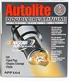 4 Autolite Spark Plugs Double Platinum # APP104