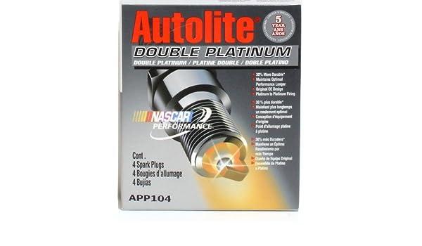 4 Autolite Spark Plugs Double Platinum # APP104 - Hardware Plugs - Amazon.com