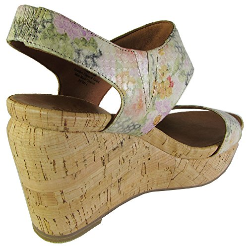 Gentle Souls Womens Juniper Barry Platform Sandal Green Multi E6if60
