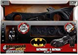 Jada Toys DC Comics Batman 1989 Batmobile DIE-CAST Car Model Kit, 1: 24 Scale Vehicle & 2.75' Collectible Metal Figurine, Build N' Collect