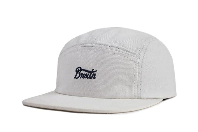 23f41b41 Brixton Men's Potrero 5 Panel Low Profile Adjustable Hat, Off White, One  Size