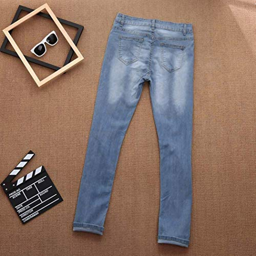 TOPUNDER Skinny Ripped Hole Jeans for Women Pants High Waist Slim Pencil Trousers by TOPUNDER (Image #4)