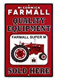 Farmall Metal Sign, Red and White