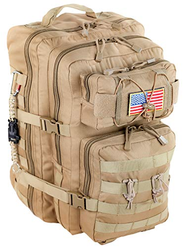(Monkey Mountain Tactical 40 Liter SWA Desert TAN 3-Day Assault Backpack Military MOLLE Ready Bug Out Survival Rucksack)