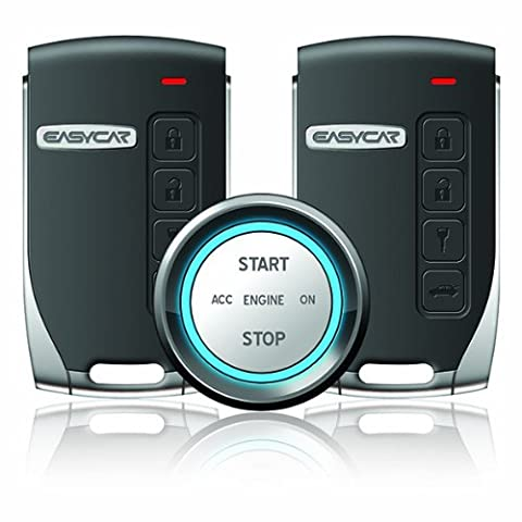 EP400 Smartkey Push Button Start Car Alarm System with 2 Key Fobs (Push To Start System)