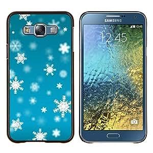 Eason Shop / Premium SLIM PC / Aliminium Casa Carcasa Funda Case Bandera Cover - Invierno azul brillante Nieve - For Samsung Galaxy E7 E700