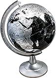 Repologle Globes Silver and Black Desk Globe