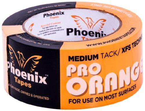 Phoenix Tapes Pro - Cinta adhesiva naranja, 2 Inch x 60 Yards, Anaranjado