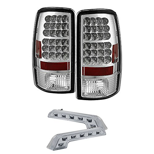 Rxmotoring 2000 Chevy Tahoe Tail Light Lamps + 8 Led Fog Bumper Lamp