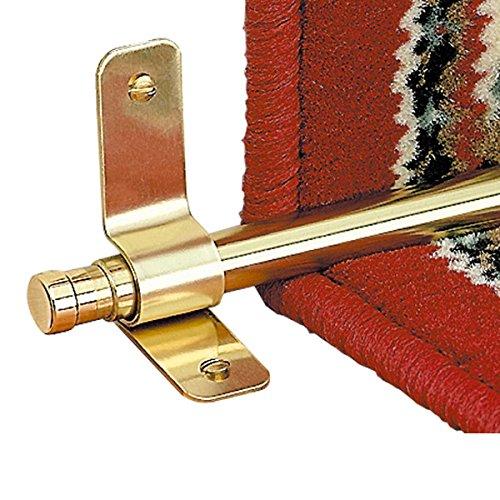 Carpet Rod Finials Barrel Pair Solid Brass 1/2