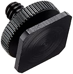 Fotasy SCX5 1/4 to 20 Inches Tripod Screw to Flash 5-Piece Shoe Mount Adapter with Premier Cleaning Cloth (Black)