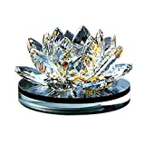 Besde Crystal Glass Lotus Car Air Vent Freshener Aromatherapy Perfume Diffuser (Yellow, 1Set)