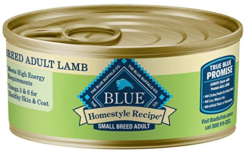 Blue Buffalo Homestyle Recipe Natural Adult Small Breed Wet Dog Food, Lamb 5.5-oz can (Pack of 24)