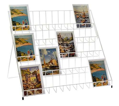Stand-Store Lightweight Collapsible Greeting Card Display Stand - White (Stands Card Greeting)