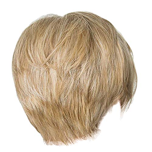 VICCKI Wigs Short Straight Synthetic Hair Full Wigs for Women Natural Looking Heat Gold