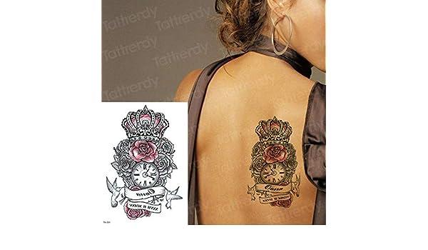 tzxdbh 3 Unids-Temporal Etiqueta engomada del Tatuaje Amor Rosa ...