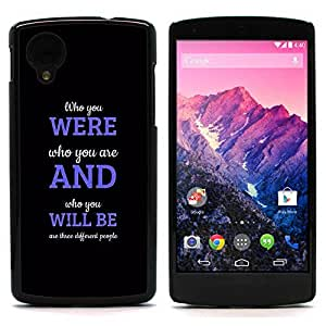 Graphic4You Different People Message Quote Hard Case Cover for LG Nexus 5 by icecream design