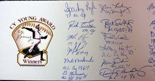 Cy Young Award - Cy Young Award Winners Multi Signed Signed Pitching Rubber With 31 Signatures Including Tom Seaver Bob Gibson and Tom Glavine - PSA/DNA Authentication - Autographed MLB Baseball Memorabilia