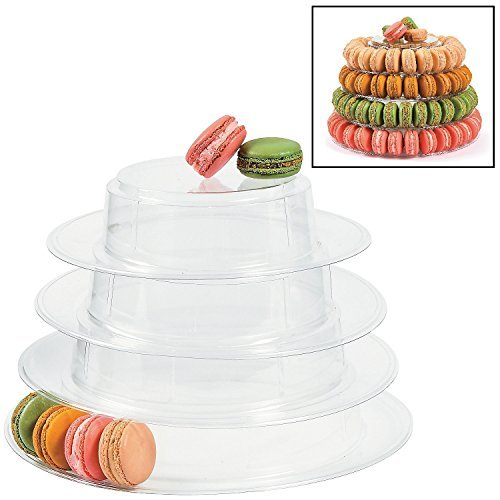 Macaroon Simple (Fun Express Plastic Macaroon Cookie Stand (9 1/2